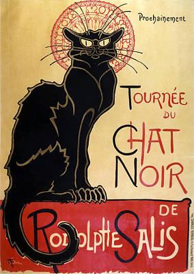 Chatting Digital Art - Le Chat Noir by Georgia Fowler