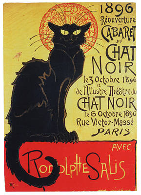 Le Cat Photograph - Le Chat Noir by P S