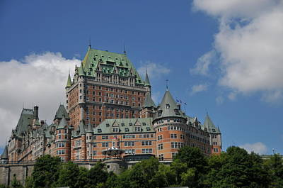 Photograph - Le Chateau Frontenac  -- Quebec City by Brian Hoover