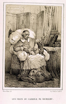 Fournier Photograph - Le Chats De Cardinal Richelieu by British Library