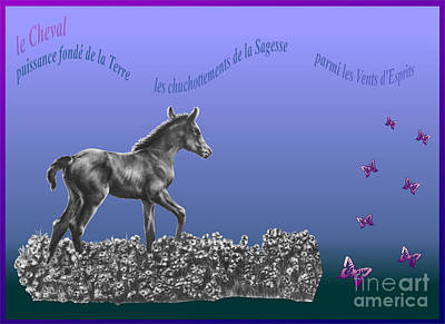 Digital Art - Le Cheval by Marianne NANA Betts
