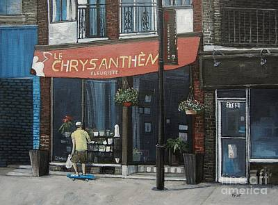 Montreal Painting - Le Chrysantheme Fleuriste by Reb Frost