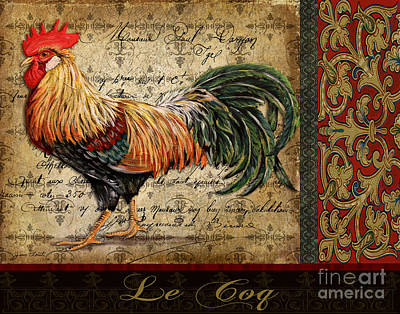 Jean Plout Painting - Le Coq-c by Jean Plout