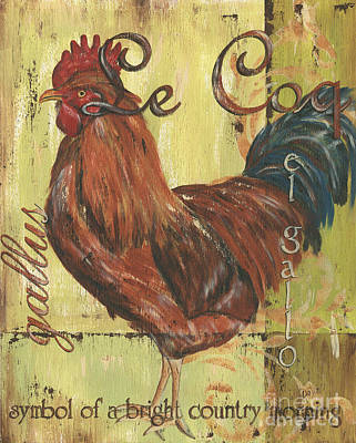 Barn Wood Painting - Le Coq by Debbie DeWitt