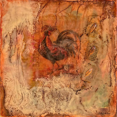 Painting - Le Coq Encaustic by Bellesouth Studio