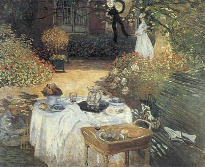 Master Painting - Le Dejeuner by Claude Monet