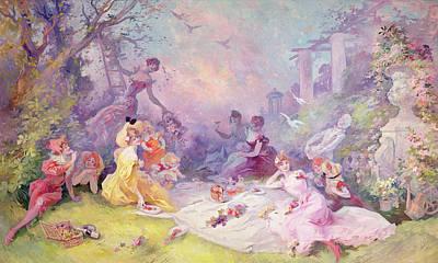Le Déjeuner Sur Lherbe, 1904 Art Print by Jules Cheret