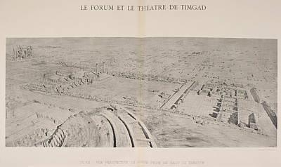 Ancient Ruins Photograph - Le Forum Et Le Theatre De Timgad by British Library