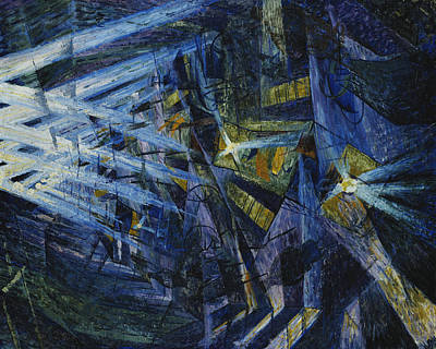 Neighbourhoods Painting - Le Forze Di Una Strada by Umberto Boccioni