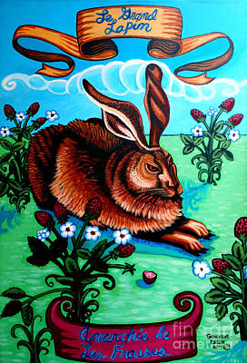Le Grand Lapin Anarchie Art Print by Genevieve Esson