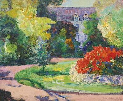 Jardin Painting - Le Jardin De Chateau by Celestial Images