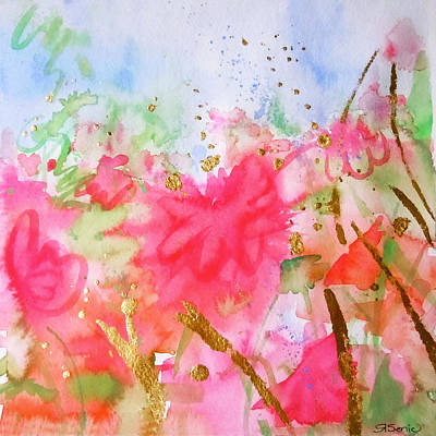 Tangerine Painting - Le Jardin by Roleen  Senic