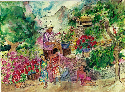 Painting - Le Jardiniere by Elaine Elliott