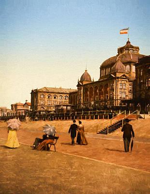 Past Painting - Le Kursaal  Holland by John K Woodruff