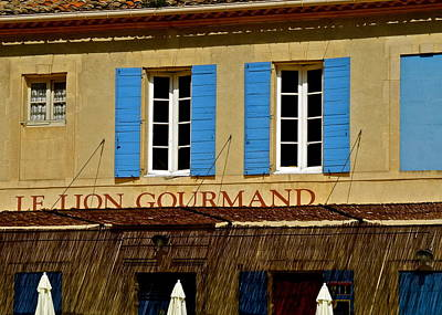Photograph - Le Lion Gourmand In Arles by Kirsten Giving