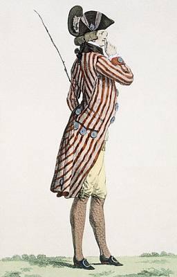 Ogle Drawing - Le Lorgneur, Engraved By Baquoi, Plate by Francois Louis Joseph Watteau