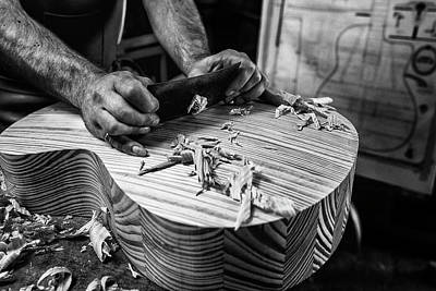 Carving Photograph - Le Luthier by Manu Allicot