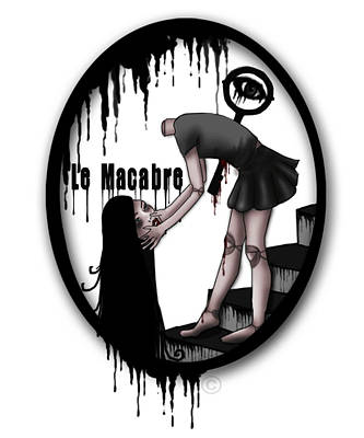 No Face Doll Painting - Le Macabre by Dominte Christian
