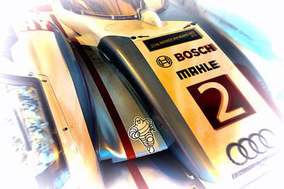 Tron Wall Art - Photograph - Le Mans 2013 Audi E-tron Quatro R18h by Olivier Le Queinec