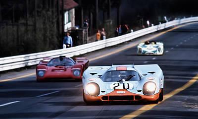 Historic Racing Digital Art - Le Mans Legend by Peter Chilelli