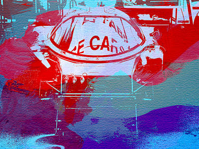 Watercolor Photograph - Le Mans Racer During Pit Stop by Naxart Studio