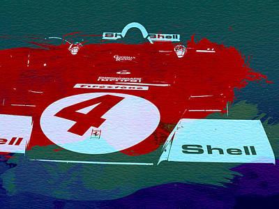 Le Mans Racing Car Detail Print by Naxart Studio