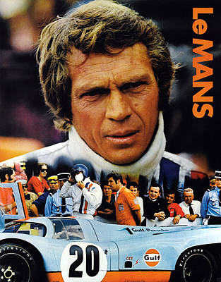 1970s Movies Photograph - Le Mans, Top Steve Mcqueen by Everett