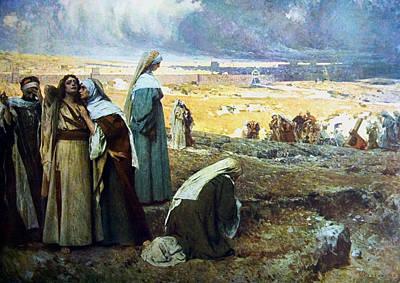 Religious Art Digital Art - Le Marie Al Calvario by Giacomo Grosso