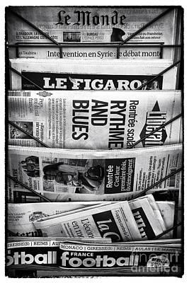 Le Monde Art Print by John Rizzuto