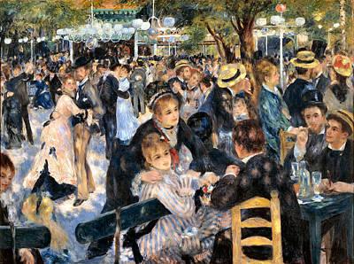 Daily Life Digital Art - Le Moulin De La Galette by Pierre Auguste Renoir