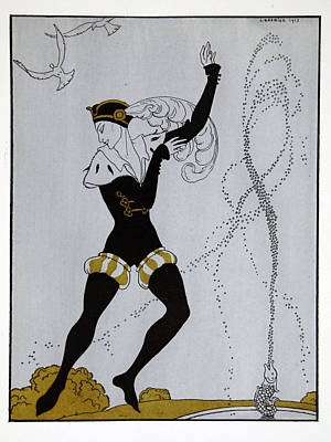 Le Pavillion D'armider Art Print by Georges Barbier