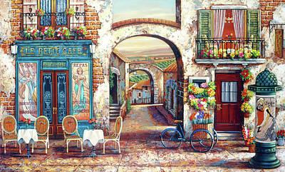 Painting - Le Petit Cafe by John P. O'brien
