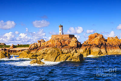 Photograph - Le Phare Du Paon Lighthouse Brittany Ile De Brehat by Colin and Linda McKie