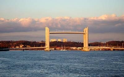 Bridge Photograph - Le Pont Chaban Delmas Bordeaux  by Bishopston Fine Art