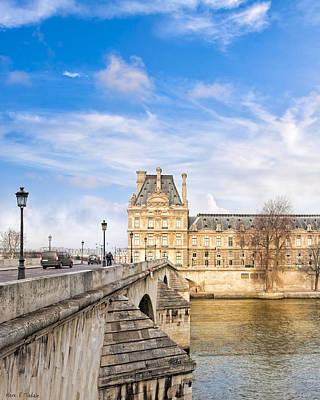 Photograph - Le Pont Royal And The Louvre - Paris On The River by Mark E Tisdale