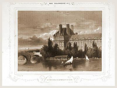 Le Pont Royal Et Le Pavillon De Flore, Paris Art Print