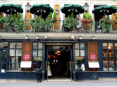 Paris Shops Photograph - Le Procope, Cafe, Paris, France by Alex Bartel