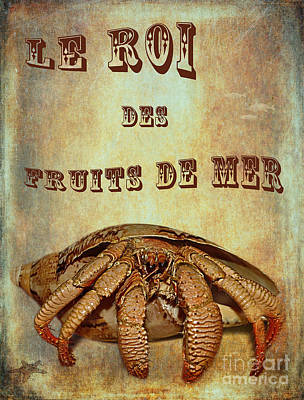 Recently Sold - Animals Royalty-Free and Rights-Managed Images - Le Roi des Fruits de Mer by Kaye Menner