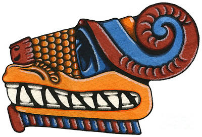 Painting - Le Serpent - Quetzalcoatl by Nora Blansett