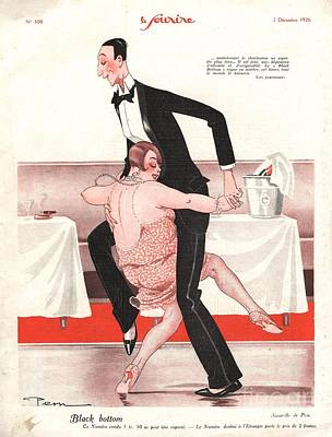 Nineteen Twenties Drawing - Le Sourire 1926 1920s France  Black by The Advertising Archives