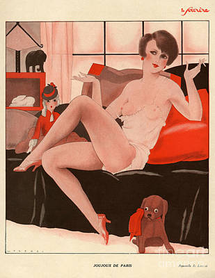 Prostitution Drawing - Le Sourire  1930s France Erotica Dogs by The Advertising Archives