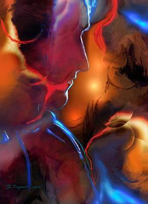 Paiting Painting - Le Tenebreux  by Francoise Dugourd-Caput