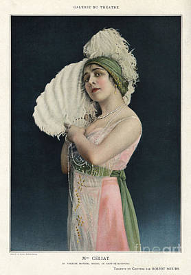 Nineteen-tens Drawing - Le Theatre 1912 1910s France Mlle by The Advertising Archives