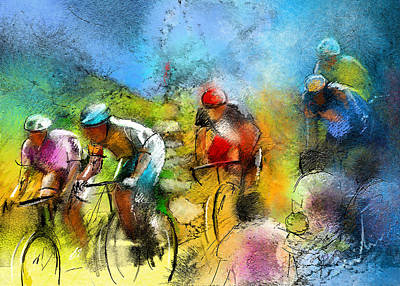 Le Tour De France 01 Art Print by Miki De Goodaboom