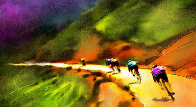 Sports Paintings - Le Tour de France 02 by Miki De Goodaboom