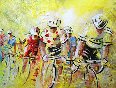 Extreme Sports Painting - Le Tour De France 07 Acrylics by Miki De Goodaboom