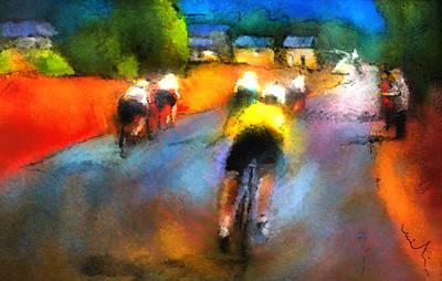 Sports Paintings - Le Tour de France 14 by Miki De Goodaboom