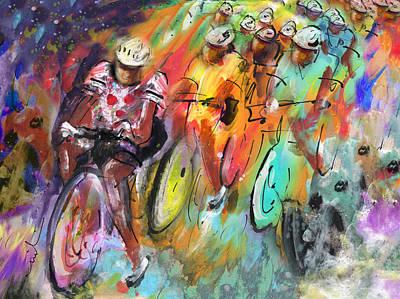 Painting - Le Tour De France Madness by Miki De Goodaboom