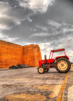 Yield Painting - Le Tracteur Rouge by Dhouib Skander