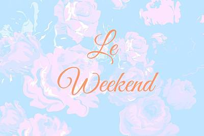 Soft Pink Digital Art - Le Weekend by Chastity Hoff